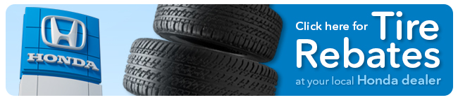 HONDA TIRE REBATE