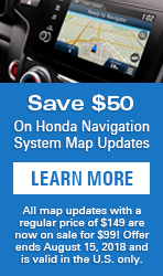 HONDA MAP UPDATE