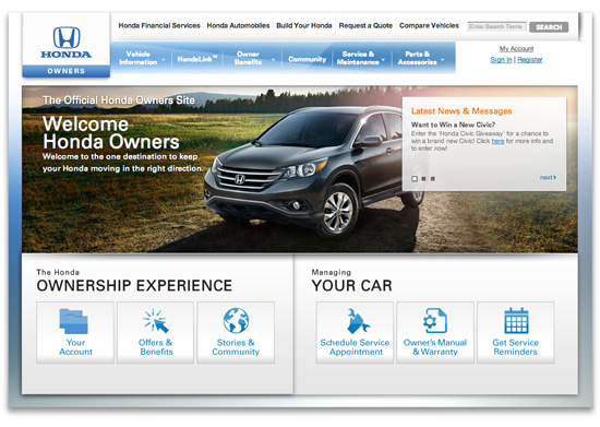 Owners Honda Com >> Programs For Honda Owners